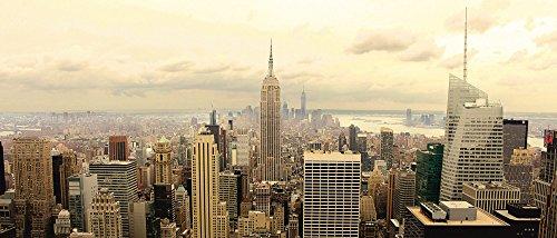 Artland Qualität I Glas Küchenrückwand ESG Spritzschutz Küche 120 x 51.4 cm Städte Amerika Newyork Foto Sepia G5TO Skyline Manhattan - New York