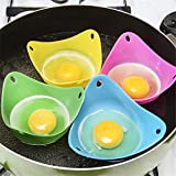 2 Paket Silikon Ei Wilderer Dampfer Bunte Pochieren Pods Backform Tassen Eierkocher Pan Eier Mold Küche Gadget In Küche (Zufällige Farben)