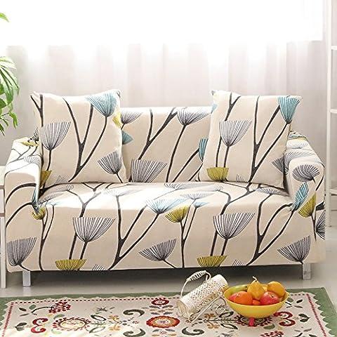 Haute élasticité Tissu Polyester Canapé Slipcover Canapé Housse de protection élégant meubles Shield/protecteur en, pissenlit, Tissu, 2 seater 145-185cm