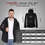 CONQUECO Herren Beheizte Jacken Wasserdicht Winddicht warm Softshell Winterjacke mit Akku und Ladegerät zum Outdoor Arbeiten - 7
