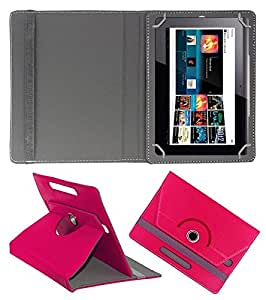 ECellStreet 360° Degree Rotating Flip Case Cover Diary Folio Case With Stand For Asus Tablet FE171 - Dark Pink