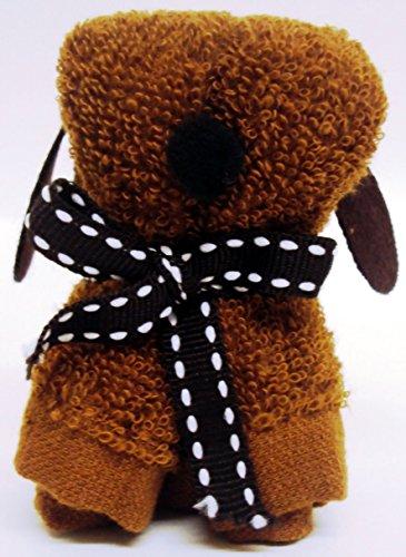 Niedliche Mini Hund geformt Handtuch Geschenk Mini Schokolade Hund Flanell Geschenk) Dunkelviolett