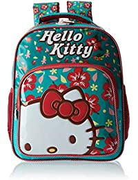 ea68b6cd0f Hello Kitty Polyester 14 Inch Turquoise and Red Children s Backpack (Age  group  3-