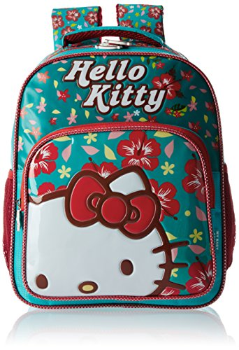 Hello Kitty Polyester 14 Inch Turquoise And Red Childrens Backpack Mbe  Hkp039 Mbe Hkp039 b08a28222ba2b