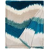 Sancarlos - Plaid Ocean, Tacto muy agradable, Manta para sofá o decoración de cama