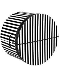 Lierys Hutschachtel Hutbox Streifen 34 cm für Damen und Herren Hutbox Hutschachtel Hutzubehör Winter Sommer