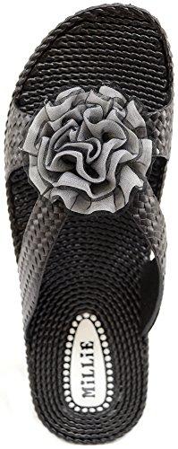Absolute Footwear, Sandali donna Nero