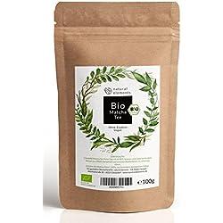 Bio Matcha-Tee Pulver 100g - Neue Formel: Jetzt zertifiziert Bio - Bio Grüntee-Pulver für Matcha-Latte, Matcha-Smoothies - natürliches Bio Grüntee Pulver im wiederverschließbaren Beutel
