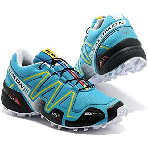 Salomon Mujer 's Speed Cross 3 Trail Running Shoes Breat heable unidad Sport Guantes Footwear Light Runner Sneakers Trainers Cushioning Racing Athletic Jogging Run Competición Jade Black, mujer, Jade Black,