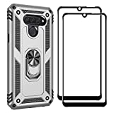 FANFO Stand Case + [2 Pack] Screen Protector for LG Q60,