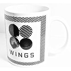 kpoplondon BTS taza de té | BTS ejército alas Love Yourself taza de café