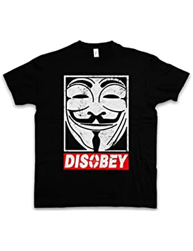"Anonymous Disobey ""J"" T-Shirt - V pour Guy For Wie Anonymous Vendetta Fawkes Maske UK Mr. Robot F Society Fsociety..."