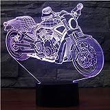 Motorcyle Table Lamptouch Night Light 7 Cambia colore motocicli Sleeping Lamp Light Usb 3D Led Lampada per bambini regalo