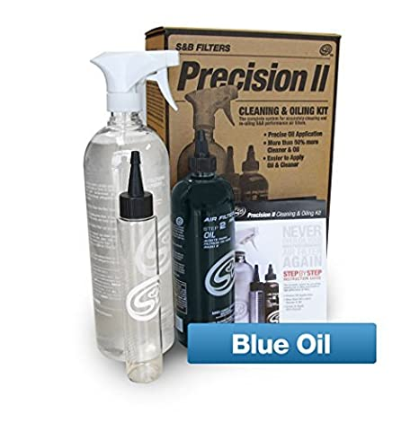 S&B Filters 88-0009 Precision II Cleaning and Oiling Kit (Blue Oil) by S&B Filters
