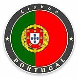 2 x 30cm/300 mm Lisbonne Portugal Autocollant de fenêtre en verre Voiture Van Locations #9520