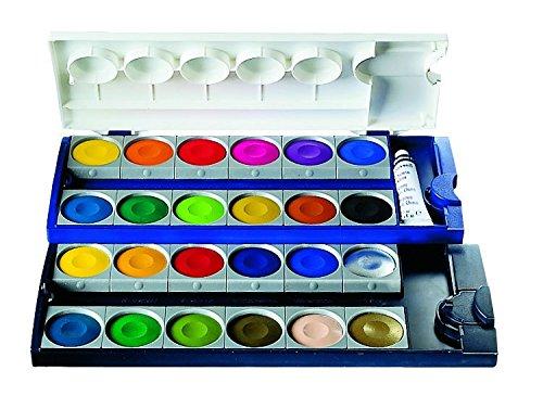 Pelikan 720862 - Caja de acuarelas calidad superior 24 colores