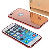 iPhone 6s Cover, iPhone 6 Back Cover SGM® Premium Luxury Detachable Metal Bumper with Mirror Hard Back Case Cover for iPhone 6s / iPhone 6 + Microfib