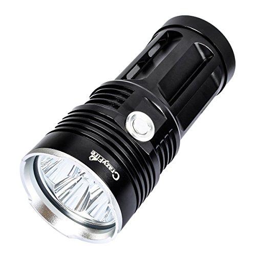 CrazyFire Superhelle LED-Taschenlampe, 6 x Cree XM-L T6 9000 Lumen Beste Taschenlampe LED Lenser,Wasserdichte Taktische LED-Taschenlampe für Camping Wandern Klettern Angeln (Batterie nicht enthalten)