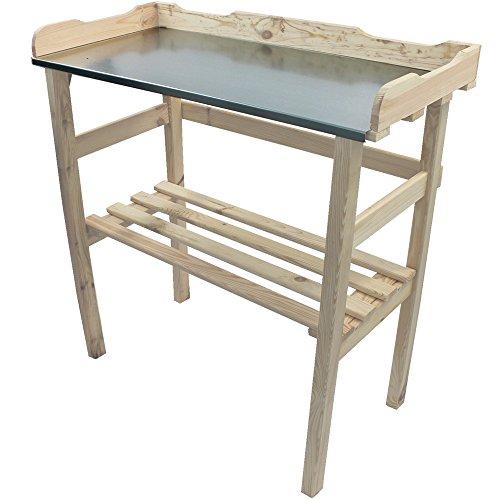 Pflanztisch-Gartentisch-82-x-78-x-38-cm-FSC-zertifiziertes-Holz-imprgniert-verzinkte-Arbeitsflche