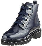 Marco Tozzi Premio Damen 25126-31 Combat Boots, Blau (Navy Patent 826), 38 EU