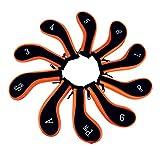 Schlägerkopfhüllen,Golf Schlägerkopfhüllen Durable Golf Eisen deckt lange Hals Golf Heads Protector mit Reißverschluss Fit für Titleist Callaway Ping TaylorMade Nike Yamaha Cleveland Wilson Reflex
