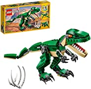 LEGO 31058 Creator Mighty Dinosaurs Toy, 3 in 1 Model, Triceratops and Pterodactyl Dinosaur Figures, Modular B