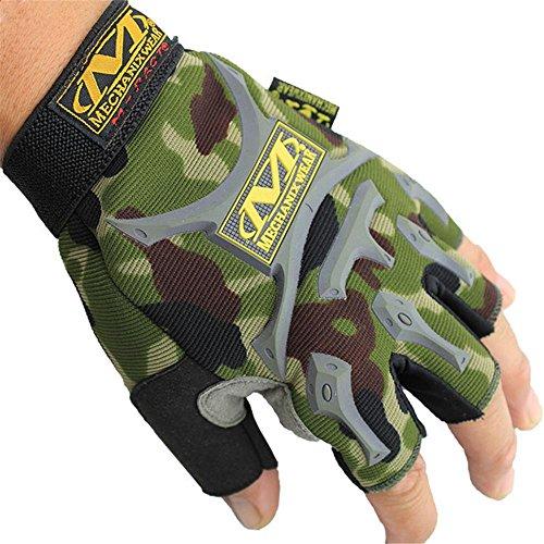 Gentleman Fahrrad Handschuhe militärischen Fans rutschfeste Farbe bezieht sich auf die Farbe des Lichts, Semi-Outdoor-Reiten Bergsport und Fitness Handschuhe unisex , camouflage , (Militärische Frau Kostüme)