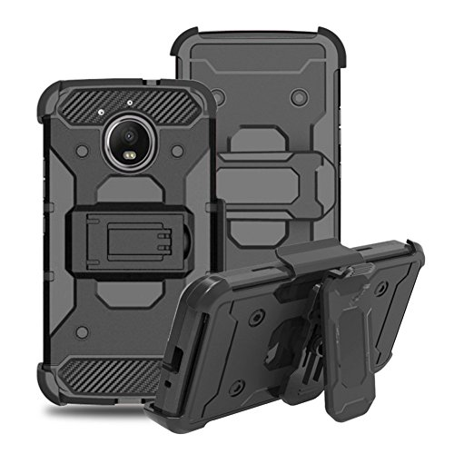 iPhone X Coque DWaybox 4 in 1 Combo Holster Hard Heavy Duty Coque avec Kickstand and Swivel Belt Clip on Shell Back pour Apple iPhone X 5.8 Inch (Rose Gold) Black