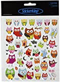 Multi-Colored Stickers-Wide Eyed Owls