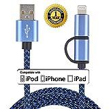 Roreikes [2-in-1-Kabel] Convenient- Ladekabel für iPhone & Micro-USB-Datenkabel 8 Pin...