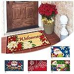 ARREDIAMOINSIEME-nelweb Zerbino Cocco Natalizio 40x70 Retro Antiscivolo Tappeto Natale Ingresso Esterno MOD.Natale Rettangolare