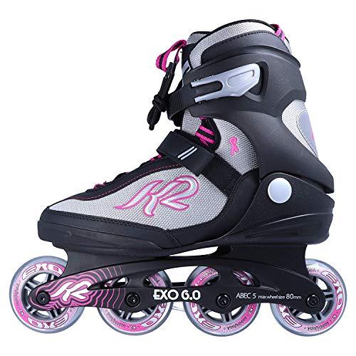 K2 Inline Skates Exo 6.0 - für Damen und Mädchen - einstellbare Rollschuhe mit Softboots - 40