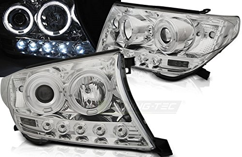 Top set fari lampade LPTO32 Toyota Land Cruiser FJ200 2007 - 2012 Angel Eyes cromati