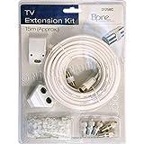 kit di prolunga per antenna TV, cavo coassiale di 15m e prese