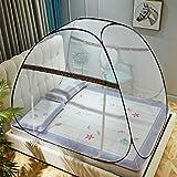 AGQLT Moskitonetz Doppelbett, größtes Mückennetz Bett, Rundes Camping Netz, Betthimmel Vorhang, Insektenschutz Reise Einfache Anbringung, Tragetasche, Keine Chemikalien,A,180×200cm