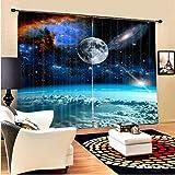 Eqwr Weltraum Wolken Luxus Galaxy 3D Blackout Vorhänge Für Wohnzimmer Kinder Jungen Bettwäsche Raum Vorhänge Vorhang H240 * W220 cm