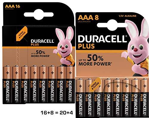 """DURACELL piles alcaline """"PLUS POWER"""", Micro, Lot de 24"""