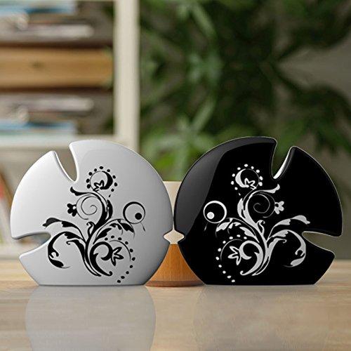 Tqhome creative Home Decoration Crafts-Decorazione in ceramica Kiss Fish, The New - New Pearl Ceramica