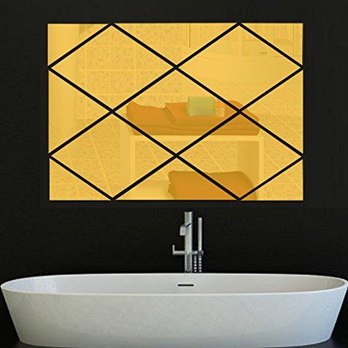 Preisvergleich Produktbild GF Rauten-Spiegel Spiegel Wohnzimmer Esszimmer TV Hintergrund dreidimensionale Ornamentik, A: 86x56cm