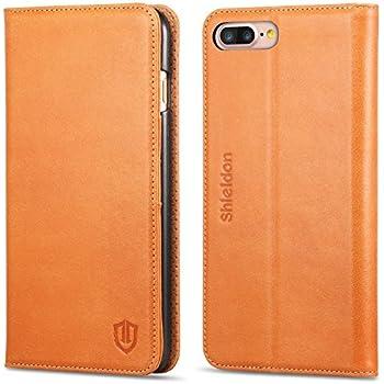 SHIELDON Coque iPhone 8 Plus, Etui iPhone 7 Plus, Housse Portefeuille de Protection pour iPhone