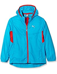 PUMA chaqueta con capucha para niños chaqueta Active rapid Azul azul Talla:140