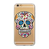 Coque Iphone 5 5S Se Tete Mort Mexicaine Skull Tatoo Transparent