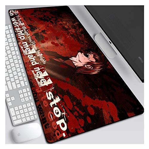 FNCNB Mauspad Death Note 900X400mm Mauspad, erweitertes Tastatur-Mousepad, professionelle Gaming-Mausmatte mit 3 mm starker Basis, für Notebooks, PC, I Death Note Stoff