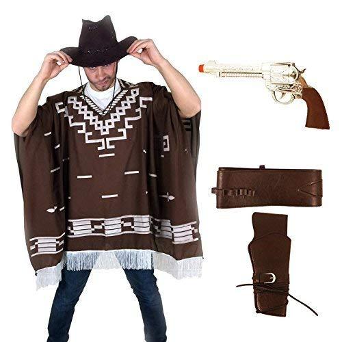 sowest Kostümpistole Western Wild West Cowboy Poncho für Clint Eastwood - Clint Eastwood Cowboy Kostüm