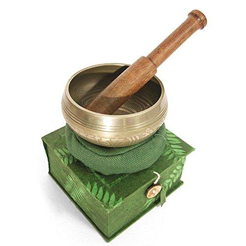 Qualität Klangschale & Stick Geschenk-Sets–Fair Trade m grün