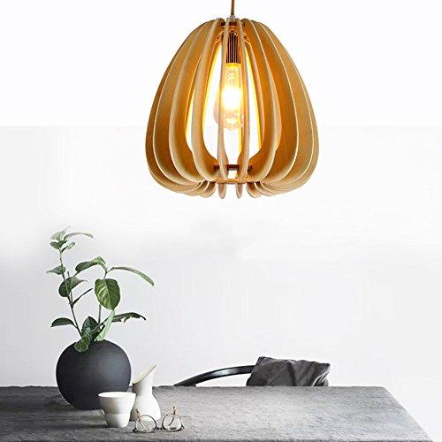 8 Licht Kronleuchter Oval (CFYLIGHT DIY Holz Kronleuchter, Persönlichkeit Kreative Oval Holz Pendelleuchte, Wohnzimmer Schlafzimmer Studie Hängelampe 40 * 40 cm)