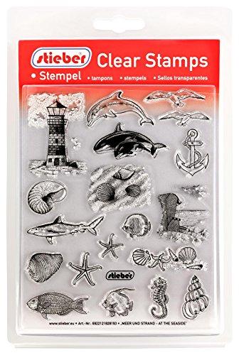 (stieber  Clear Stamps Transparente Stempel Sets (Bitte gewünschtes Motiv/Thema unten auswählen!) (Meer UND Strand - at The Seaside))