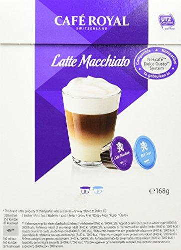 Café Royal Latte Macchiato, 64 Nescafé Dolce Gusto kompatible Kapseln, 4er Pack...