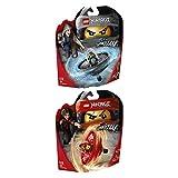 LEGO Ninjago 2er Set 70633 70634 Spinjitzu-Meister Kai + Spinjitzu-Meisterin Nya