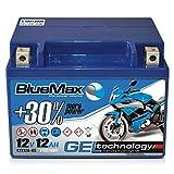 Motorradbatterie 12 V/12 Ah - 160 A/EN CTX12A-BS GEL 51013 BlueMax YTX12A-BS